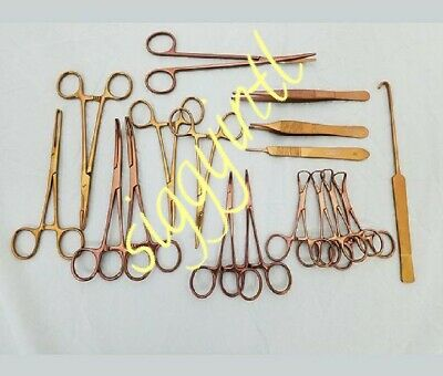 72 PC FELINE GENERAL SURGERY SPAY PACK VETERINARY SURGICAL INSTRUMENTS gold  Sug