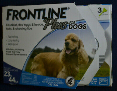 Frontline Plus for Dogs 23-44, 23to44 lbs. 3 Month, Three Doses, 3 Pack