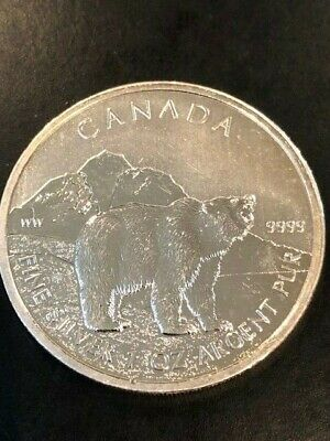 2011 5$ Canada .9999 1oz Silver Wolf Black Ruthenium//24 kt Gold limited 500 pcs