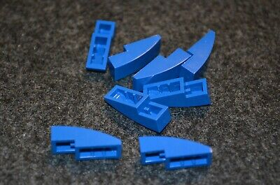8 ~ 1x4 Blue Rounded Both End Bow Bricks ~ New Lego Parts ~