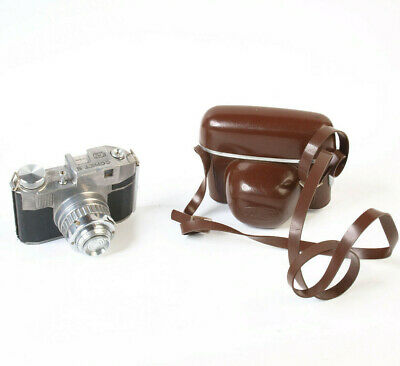 Classic Italian Bencini Comet S vintage 127 film camera with case