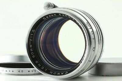 【 Rare!! Lens & Rear Cap! EXC+5 】 Canon 50mm f/1.5 Lens L39 Mount LTM from JAPAN