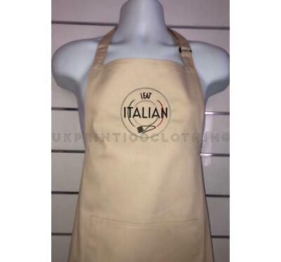 Dennys Bib Pocket Apron Personalised Embroidered/Printed Adjustable Chef Waiter
