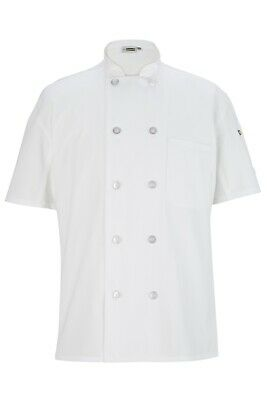 Chef Coat 10 Button Short Sleeve with Back Mesh Unisex