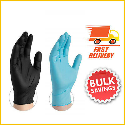 Nitrile Disposable Gloves Powder Latex Free Tattoo Mechanic Valeting Medical Uk