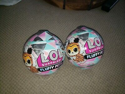 Lot of 2 LOL Surprise Winter Disco Series FLUFFY PETS Sealed Unopened Balls