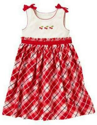 Nwt Gymboree ~Cherry Cute ~ Girls Plaid Dress Outfit Size 5 Wow