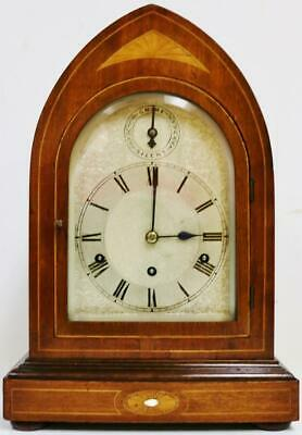 Antique German Kienzle 8 Day Lancet Top Westminster Chime Musical Bracket Clock