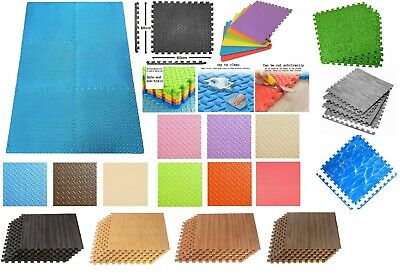 LARGE 60cm MAT INTERLOCKING EVA FOAM MATS TILES GYM PLAY WORKSHOP FLOOR FITNESS