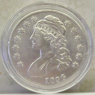 1836 Capped Bust Half Dollar Fifty Cent US Silver Coin 50 Cents