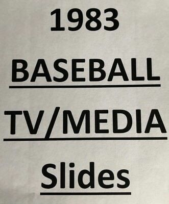 1983 MLB TV MEDIA SLIDES $0.99 each - MANY DIFFERENT PLAYERS & TEAMS