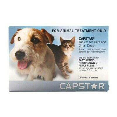 Capstar for Cats and Small Dogs 0.5-11kg Kills Adult Fleas