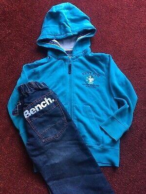 Boys Blue Jacket And Jeans From Next  And Bench Age 5 Yrs. Great Condition.