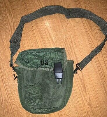 US Military 2 Quart Collapsible Canteen 2QT Pouch W/ Strap ALICE CLIPS USGI exc