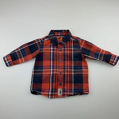 Boys size 0, Tilt, checked long sleeve cotton shirt, GUC