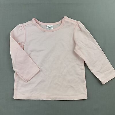Girls size 0, Target, pink cotton long sleeve t-shirt / top, EUC
