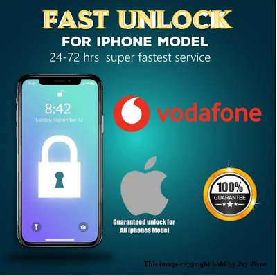 Vodafone SUPER Express Unlock Code service iPhone6 5S 5C 5 4S 4✅24-48 Hours FAST