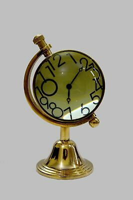 Nautical Maritime Shiny Table Clock With Brass Stand Hanging Desk Watch Decor Na