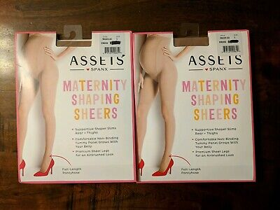 2 Spanx Assets Maternity Shaping Sheers 96225-22 Size 1 Nude Full Length