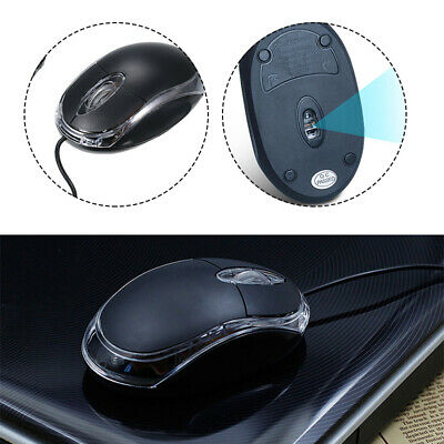 New Wired Usb Optical Mouse For Pc Laptop Computer Scroll Wheel - Black Uk Stock