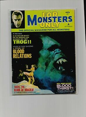 For Monsters Only # 9 Christopher Lee Dracula Vintage Horror Movie Magazine
