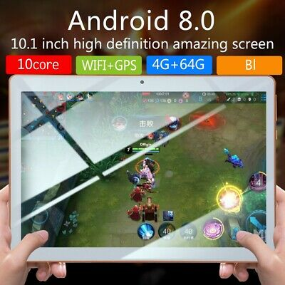 10.1 inch Android 8.0 Tablet PC 4G+64GB Octa-Core HD WIFI 4G 2 SIM Phablet