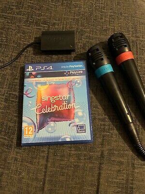 Singstar Celebration Game + 2x Microphones OFFICIAL Mic Playstation 4 PS4 USB