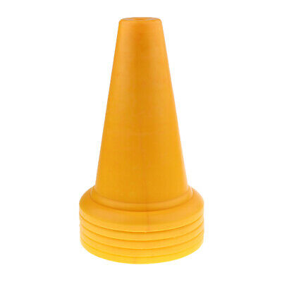 5Pcs Safety and Security Cones Outdoor Games Plastic Traffic Cones Yellow