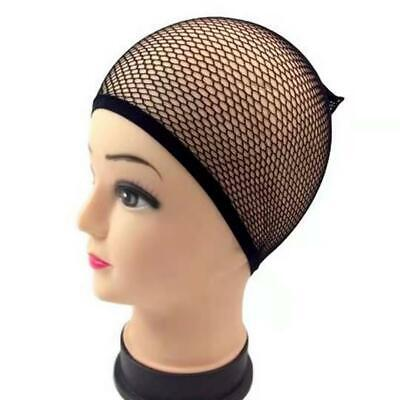 Black Hair Net Mesh Wig Cap Hair Net Wrap Wig  Elastic Hair Bun Net Dance