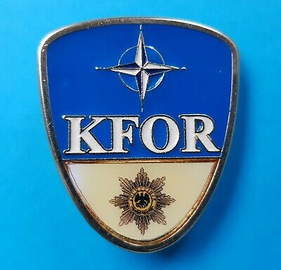 NATO KFOR Germany German MILITARY POLICE Kosovo Mission Army Metal Pin Badge