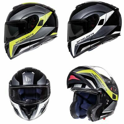 MT Atom Tarmac Flip Up Motorcycle Crash Helmet Motorbike Scooter Lid DVS