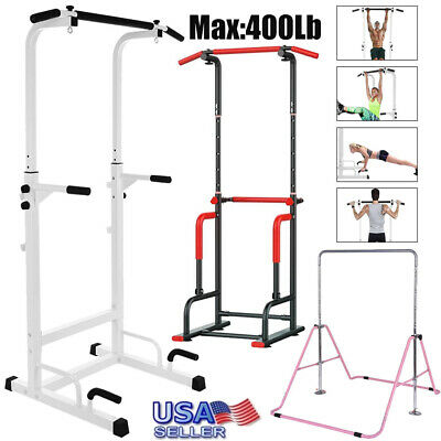 Power Tower Dip Station Pull Up Horizontal Bar Training Home Gym Fitness Core