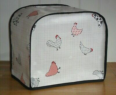 Black Edged Patterned Chickens Vinyl Cover for KENWOOD PROSPERO Food Mixers