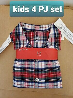 Gap kids size 4 Flannel PJ set Red NEW