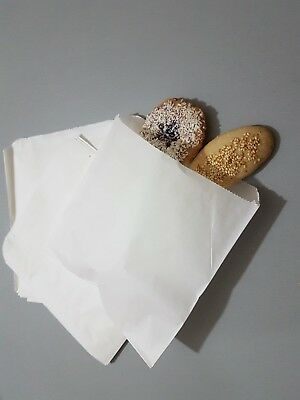 Greaseproof White Paper Bags for Food Scotchban Sandwich Takeaway Cakes Pies