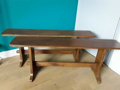 Antique Pine Refectory Benches