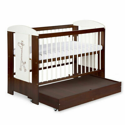 Solid Baby Cot Bed With Drawer & 11cm Luxe Aloe Vera Coconut Mattress