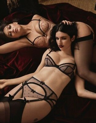 BRIEF BNWT AGENT PROVOCATEUR BLACK MARGOT 32B//C 34B//C//DD 36B//C//D//DD SUSPENDER