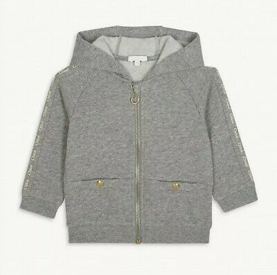 Chloe Kids Girls Cardigan Jacket Hoodie Grey Marl 1-2 Y