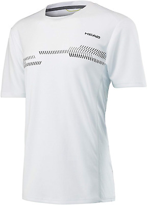HEAD Boys' Club Technical T-Shirt, White, Size 140