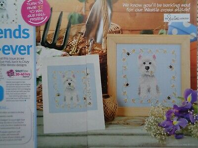 SG WESTIES Cross Stitch Chart  10.9 x 12.0Inches