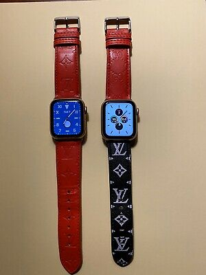 LV Apple Watch Leather Band For Watch Series 5 4 3 2 1 - Designer Watch Bands