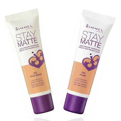 Rimmel London Stay Matte Liquid Mousse Foundation - Free  P&P **Select Shade**