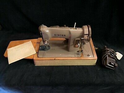 VINTAGE 1958 SINGER 185K ELECTRIC SEWING MACHINE + Accessories & Instructions!!