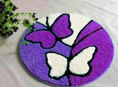 Purple Lilac Butterfly Latch Hook Rug Kit, Brand New