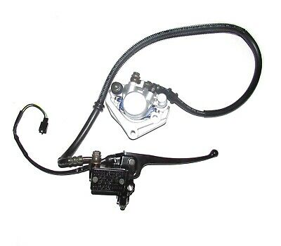 """Front Hydraulic Brake Assembly Brake Line 36"""" Mount Holes 50mm Ctr to Ctr (E718)"""