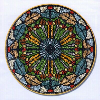 STAINED GLASS WINDOW LATCH HOOK RUG KIT, NEW DESIGN and UK Seller