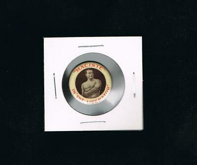 STUNNING VERY RARE 1913 cinema pinback button MACISTE HERCULES Muscle Strongman