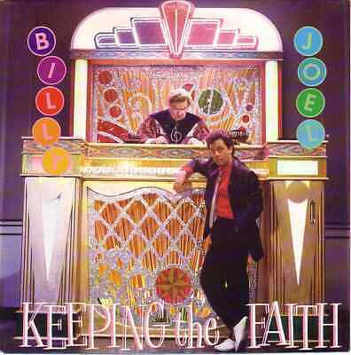 "BILLY JOEL  Keeping The Faith PICTURE SLEEVE 7"" 45 record NEW + juke box strip"