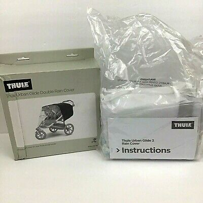 Thule 20110744 Urban Glide Double Rain Cover for Double Stroller Distressed Box
